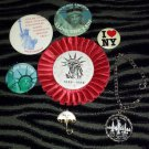 VTG 80s I LOVE NEW YORK & Statue of Liberty Centennial Patriotic USA Pinback Buttons Souvenirs Lot