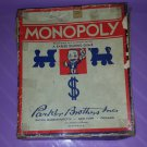 Vintage 1947 Parker Brothers Short Monopoly Game in original box