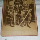 ANTIQUE CDV Photograph Military Men German Soldiers w/ Swords 1800s Lunenburg Raphael Peters EX