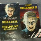 HELLRAISER 1 & 2 Box Set plus HELLRAISER 3 VTG VHS Videos set of 3 movies Horror Cult Classic!