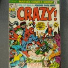 Vintage Marvel Comics CRAZY! VOL 1 NO 1 Feb 1973 Premier Issue FORBUSH-MAN VG
