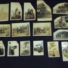 Antique Victorian Photographs Lot of 16 Photos Military Men in uniform on horses & Victorian Ladies