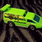 Vintage 70s HOT WHEELS Neon Green Spoiler Sport 1976 Hong Kong Diecast Toy Car Van