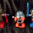 Vintage Tomy Rascal Robots Pocket Bots Acrobots Wind-up Walking Toys 1977 1979 set of 3 GREAT!