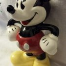 Vintage MICKEY MOUSE Glazed Ceramic Figure Figurine Walt Disney Enesco