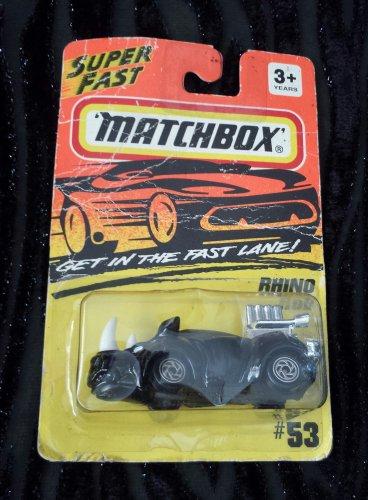 Vintage 1994 SUPERFAST MATCHBOX Black Rhino Rod #53 Diecast Toy Car NIP