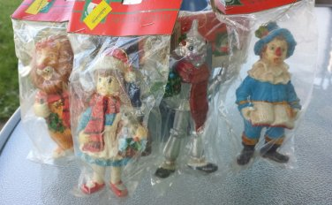 Vintage 80s Wizard of Oz Set of 4 Christmas Ornaments Kurt S Adler MINT SEALED NIP