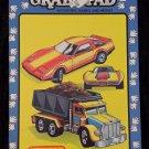 RARE Vintage 1990 MATCHBOX Grab Pad GIANT 11 x 17 Coloring Book Activity Pad MINT