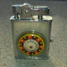 Vintage 1950s Roulette Wheel Casino Cigarette Lighter Smoking Collectible mad men style