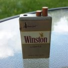 Vintage 70s 80s WINSTON LIGHTS Cigarettes Lighter Smoking Collectible