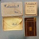 Antique Art Deco 1940s Aladdin by Metalfield Cigarette Case w/ Lighter in original box MINT