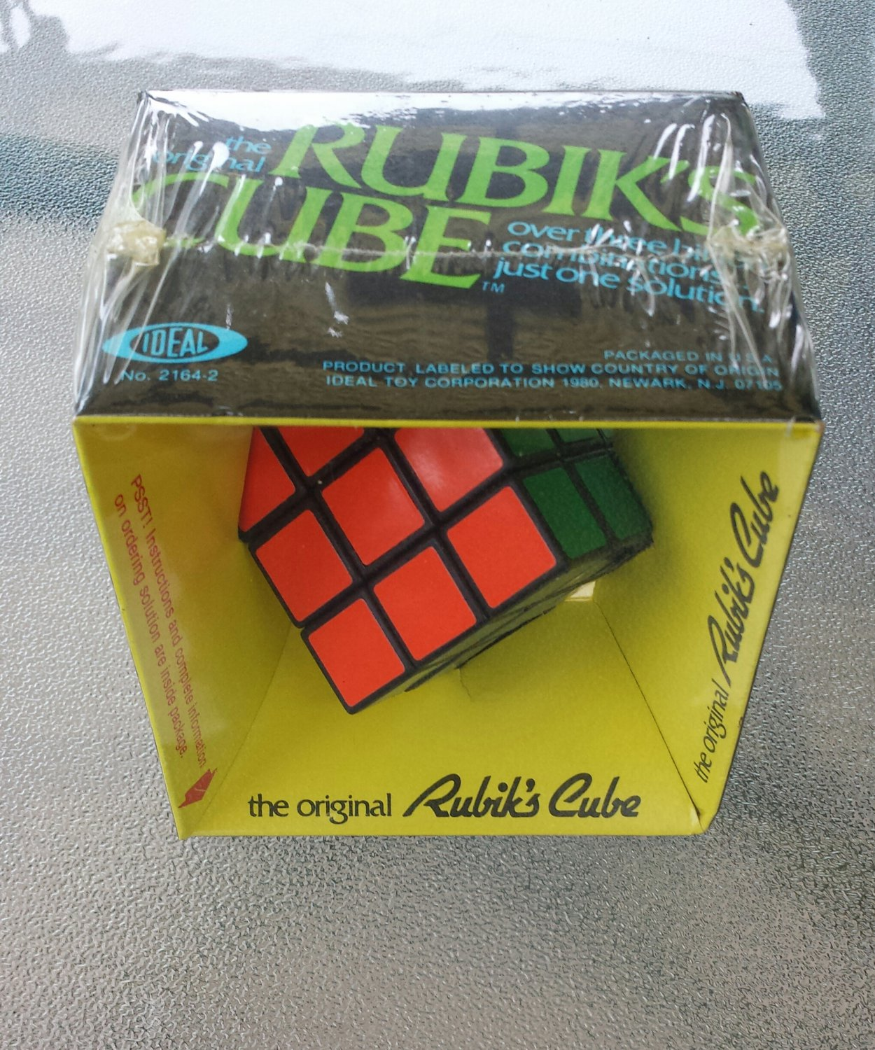 vintage 1980 the original rubik 39 s cube puzzle ideal mint factory sealed rare. Black Bedroom Furniture Sets. Home Design Ideas
