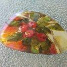 Vintage Eyeglass Lens Floral Handmade Pin Brooch ooak