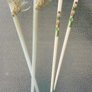 Vintage 1950s Pin Up Hair Celluloid Rhinestone Hair Chop Sticks Hair Ornaments Hair Jewelry Set of 2