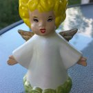 Vintage Ceramic Angel Blonde Girl Painted Angelic Figure Figurine