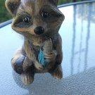 Vintage Ceramic Raccoon Figure Figurine Knicknack