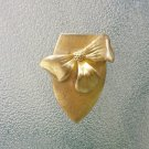 Antique 1930s 1940s Art Deco Brass Bowtie Shoe Clip