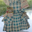 Adorable Vintage 1950 Happy Birthday Nana Kitty Cat Greeting Card