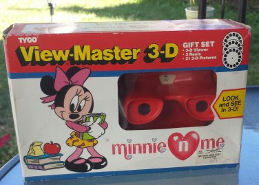 Vintage 1990 TYCO View Master 3-D Gift Set Minnie 'N Me  Complete MINT IN BOX