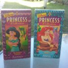 Disney Princess Collection Ariel's Songs & Stories and Jasmine's Enchanted Tales VTG 90s VHS Videos
