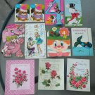 Assorted Vintage 1960s 1970s Greeting Cards Lot of 13 UNUSED vintage scrapbooking