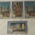 Vintage 1939 New York World's Fair Linen Souvenir Postcards Lot of 4 UNUSED UNPOSTED