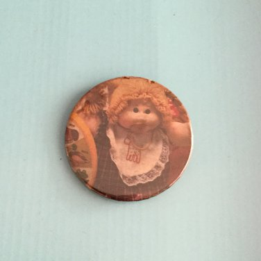Vintage 80s RARE Cabbage Patch Kids Novelty Pinback Button Badge