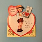 Vintage Valentine 1930s 1940s Die Cut Mechanical Valentine's Day Greeting Card UNUSED