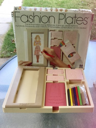 Vintage 1978 FASHION PLATES Fashion Design Toy by Tomy w/ Box GREAT!