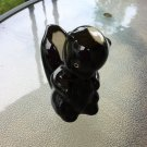 Vintage 1940s Ceramic Black Skunk Figurine Knicknack
