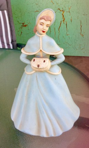 "Vintage Holland Mold Victorian Lady Figure Hand Painted Ceramic 9"" Figurine"