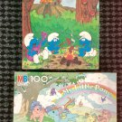 Vintage 80s MY LITTLE PONY & SMURFS Milton Bradley Puzzles (Lot of 2) w/boxes