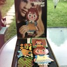 Vintage 60s Raggedy Ann Dress Up Kit Colorforms Dress Up Set 1967  w/ Box and Booklet EX