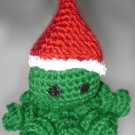 Small Crocheted Green Holiday Octopus