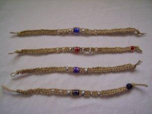 Four Hemp Bracelets