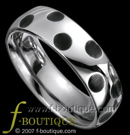 """Dalmatian"" Hammered Style Tungsten Carbide Wedding Band Ring sz 5.5, 6.5, 7.5, 8.5, 9.5. 10.5, 11.5"