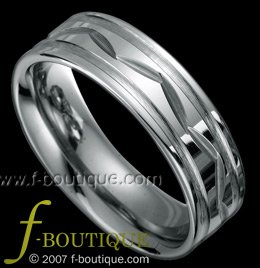 """Nature"" Grooved Tungsten Carbide Wedding Band Ring Size 5.5, 6.5, 7.5, 8.5, 9.5. 10.5, 11.5"
