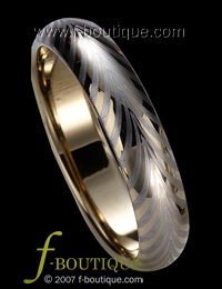 """Wheel of Fire"" TUNGSTEN CARBIDE wedding band ring size 4 5 6 7 8 9 10 11 (also every half size)"
