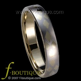 """Le Quartet"" TUNGSTEN CARBIDE wedding band ring size 4 5 6 7 8 9 10 11 (also every half size)"