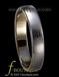 """Tranquillity"" TUNGSTEN CARBIDE wedding band ring size 4 5 6 7 8 9 10 11 (also every half size)"