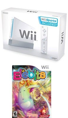 Nintendo Wii Sport Bundle - With 5 Great Sports Games + Nintendo Wii Elebits