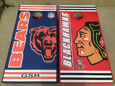 Chicago Bears Cornhole boards