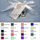 "Personalized Favor Ribbons - Silver Edge - Width:3/8"" Length:12"" (Qty 25)"