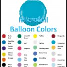 Microfoil Balloons - Bright Jewels to Pastels and Metallics
