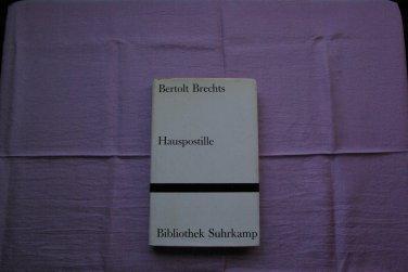 GERMAN BOOK BERTOLT BRECHTS     HAUSPOSTILLE