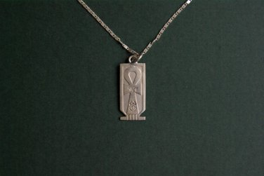 NECKLACE SILVER CARTOUCHE