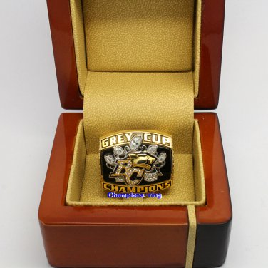 2006 BC Lions CFL Grey Cup Championship Ring