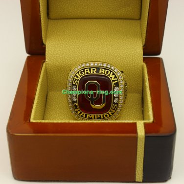 2014 Oklahoma Sooners Sugar Bowl NCAA Football Championship Ring