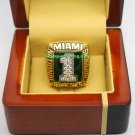 1989 Miami Hurricanes NCAA Football National Championship Ring