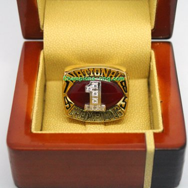 1985 OU OKLAHOMA SOONERS NCAA Football National Championship Ring